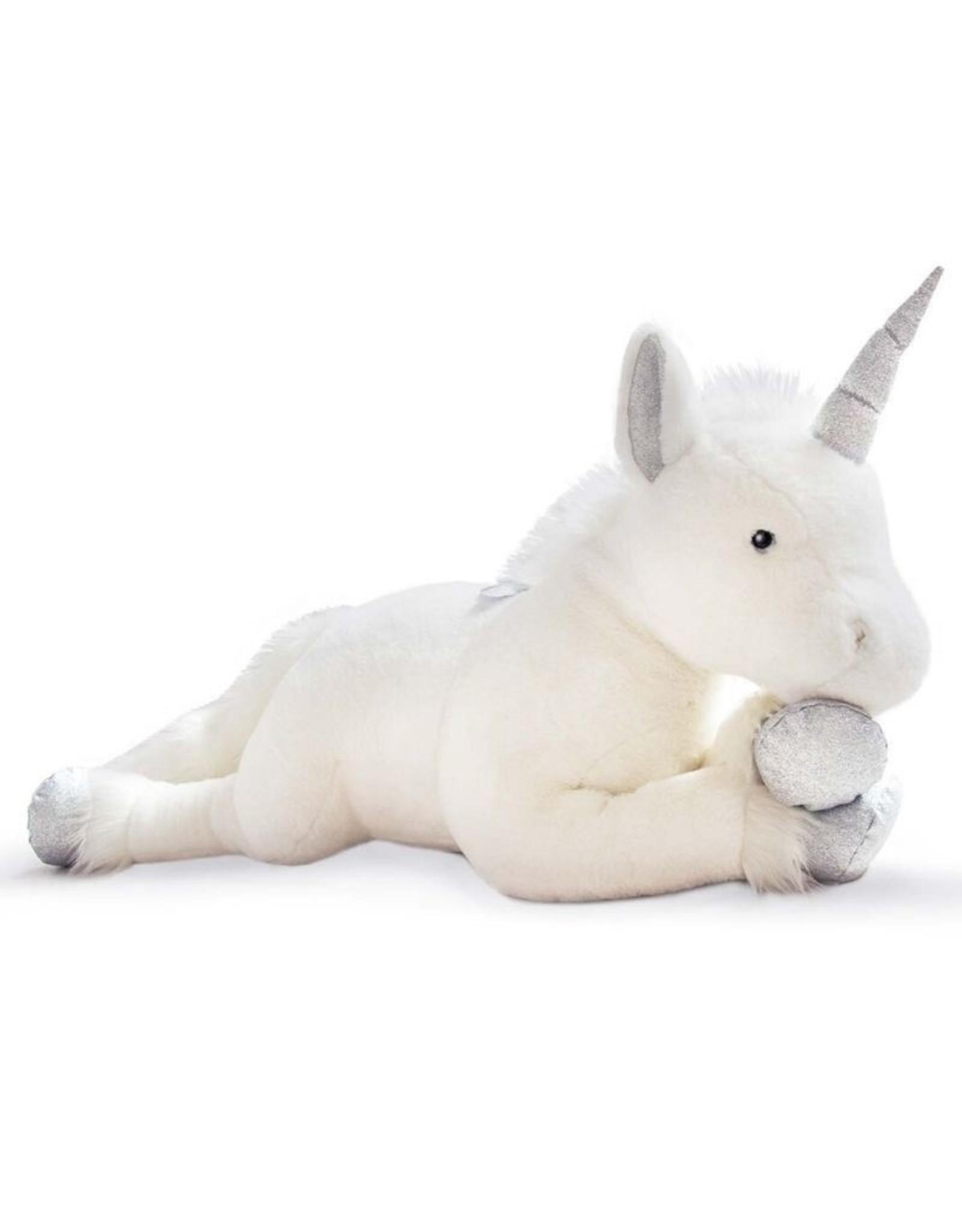 Doudou Elongated Unicorn Silver 39.4