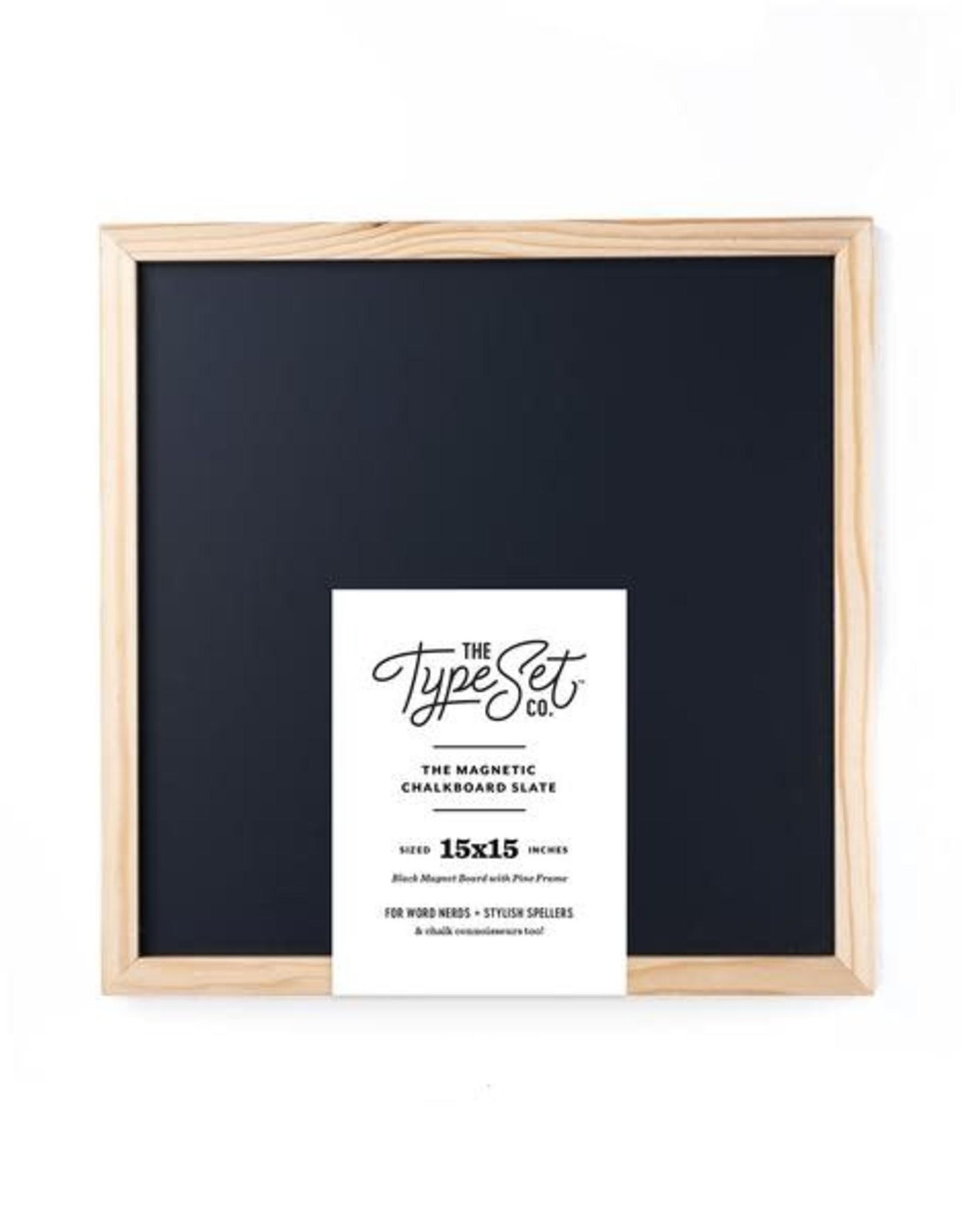 The Type Set Black chalkboard