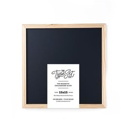 The Type Set Black chalkboard