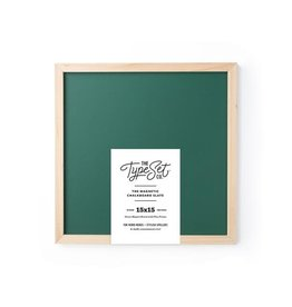 The Type Set Green chalkboard