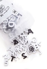 The Type Set Paper white letters