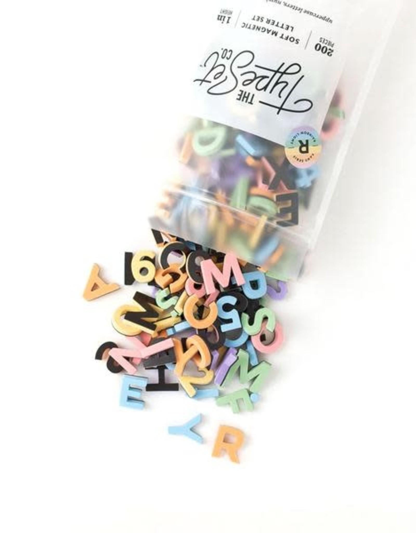 The Type Set Rainbow light letters