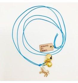 Atsuyo et Akiko Unicorn Necklace Blue