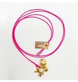 Atsuyo et Akiko Unicorn Necklace Pink