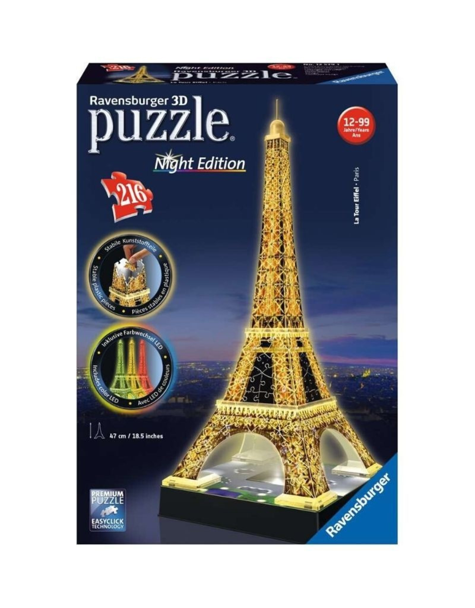 Ravensburger 12579 Eiffel Tower Night Edition