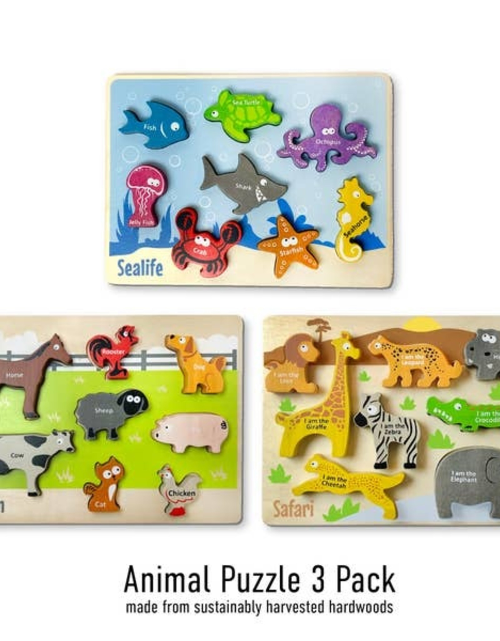 Begin Again Animal Puzzle 3 Pack