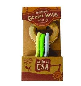 Begin Again Green Keys Clutching and Teething Toy