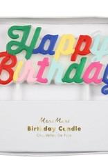 Meri Meri Multi Happy Birthday Candle