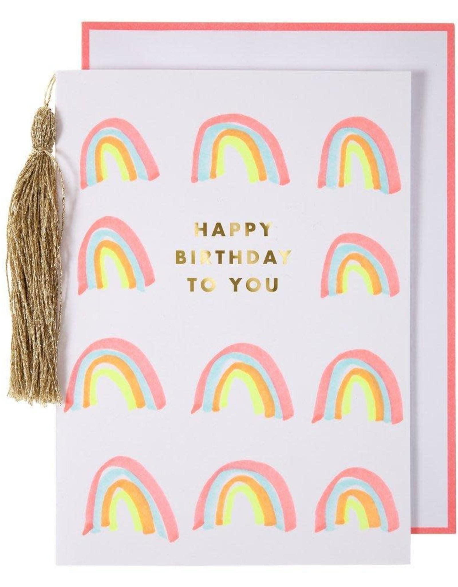 Meri Meri Rainbows & Tassel Card