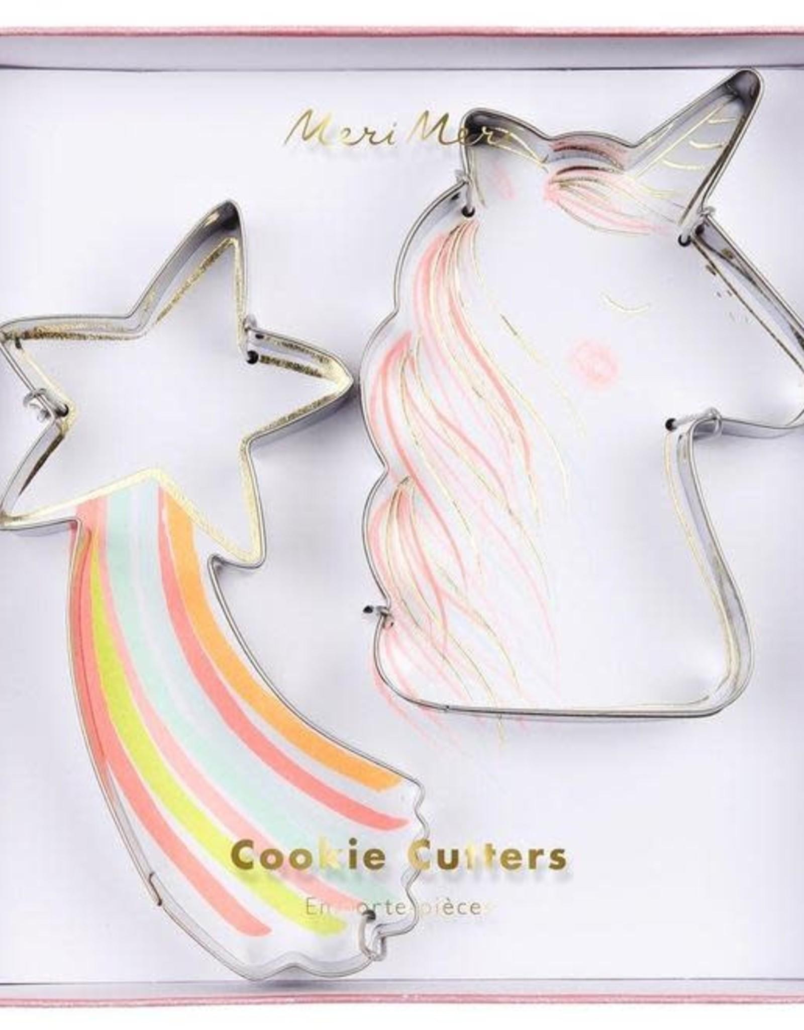 Meri Meri Star and Unicorn Cookie Cutters Set