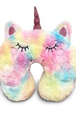 Top Trenz Furry Unicorn Travel Pillow