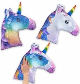 Top Trenz Reversible Unicorn Sequin Pillow