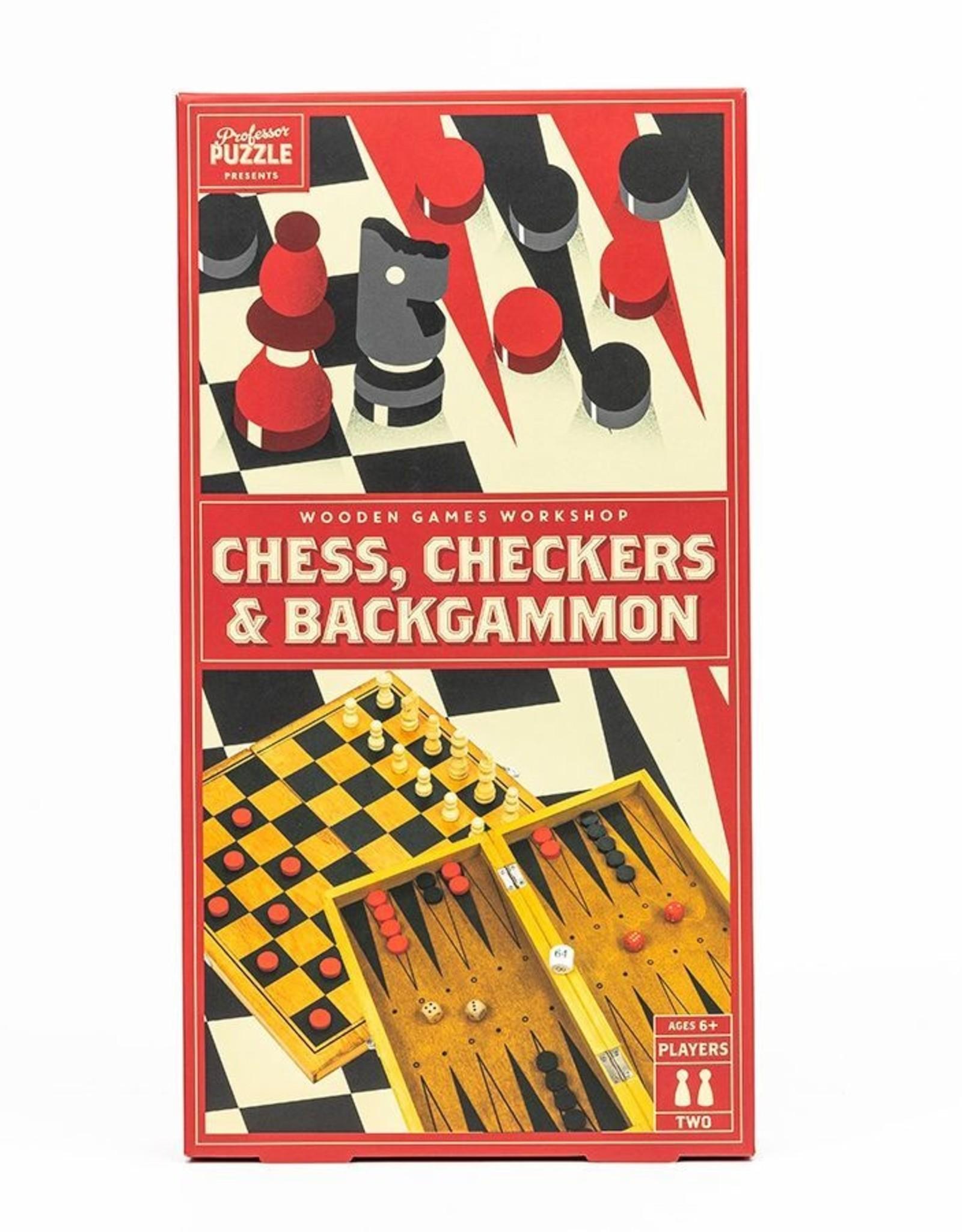 Professor Puzzle Chess, Checkers, and Backgammon