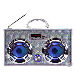 Wireless Express Bling Boom Box Iridescent