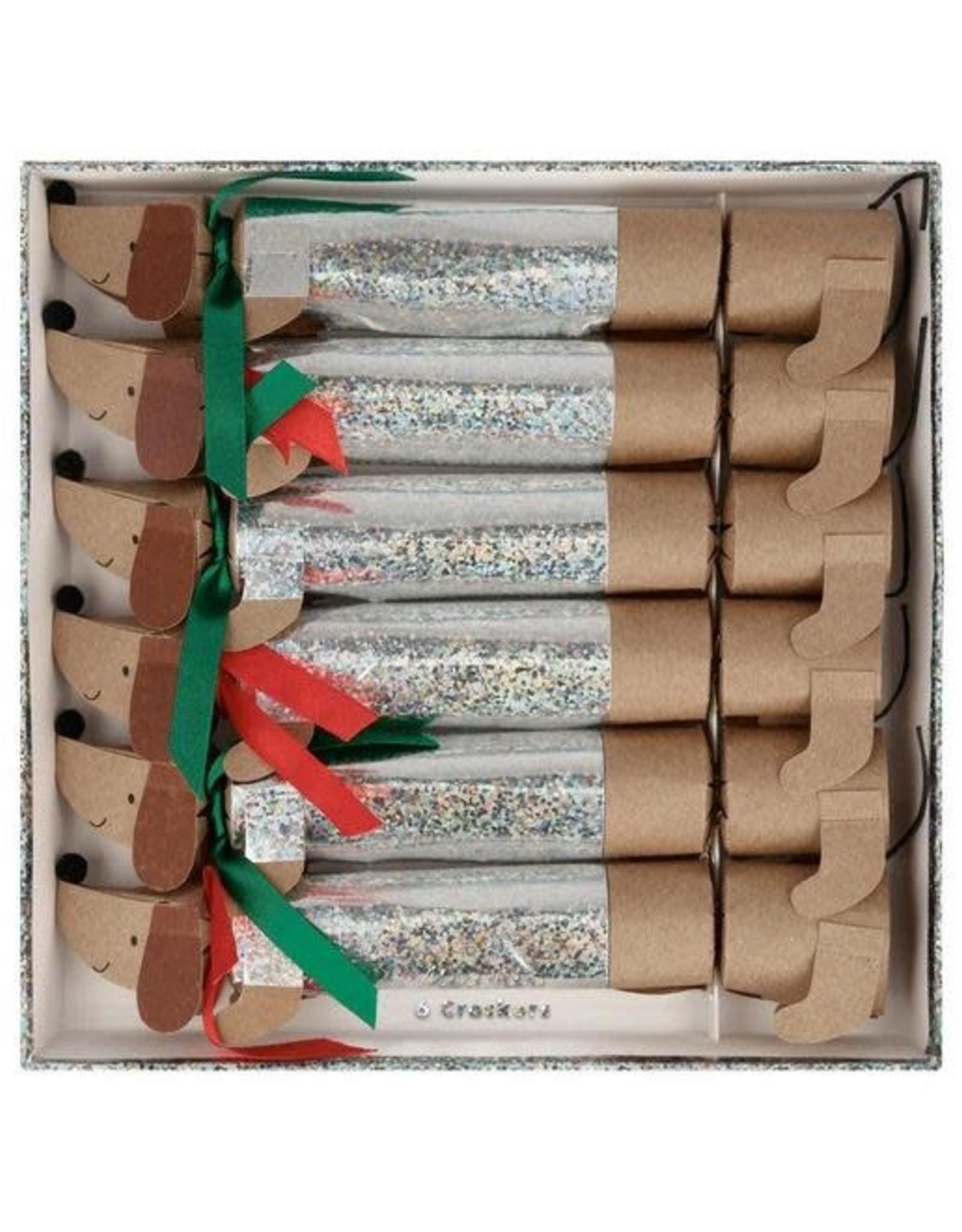 Meri Meri Sparkly Sausage Dog Crackers