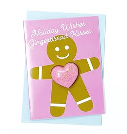 Feeling Smitten Holiday Wishes Gingerbread Kisses Card