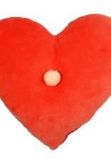 Meri Meri Coral Heart Velvet Cushion
