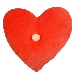 Meri Meri Coral Heart Velvet Cushion