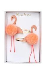 Meri Meri Flamingo PomPom Hair Clips