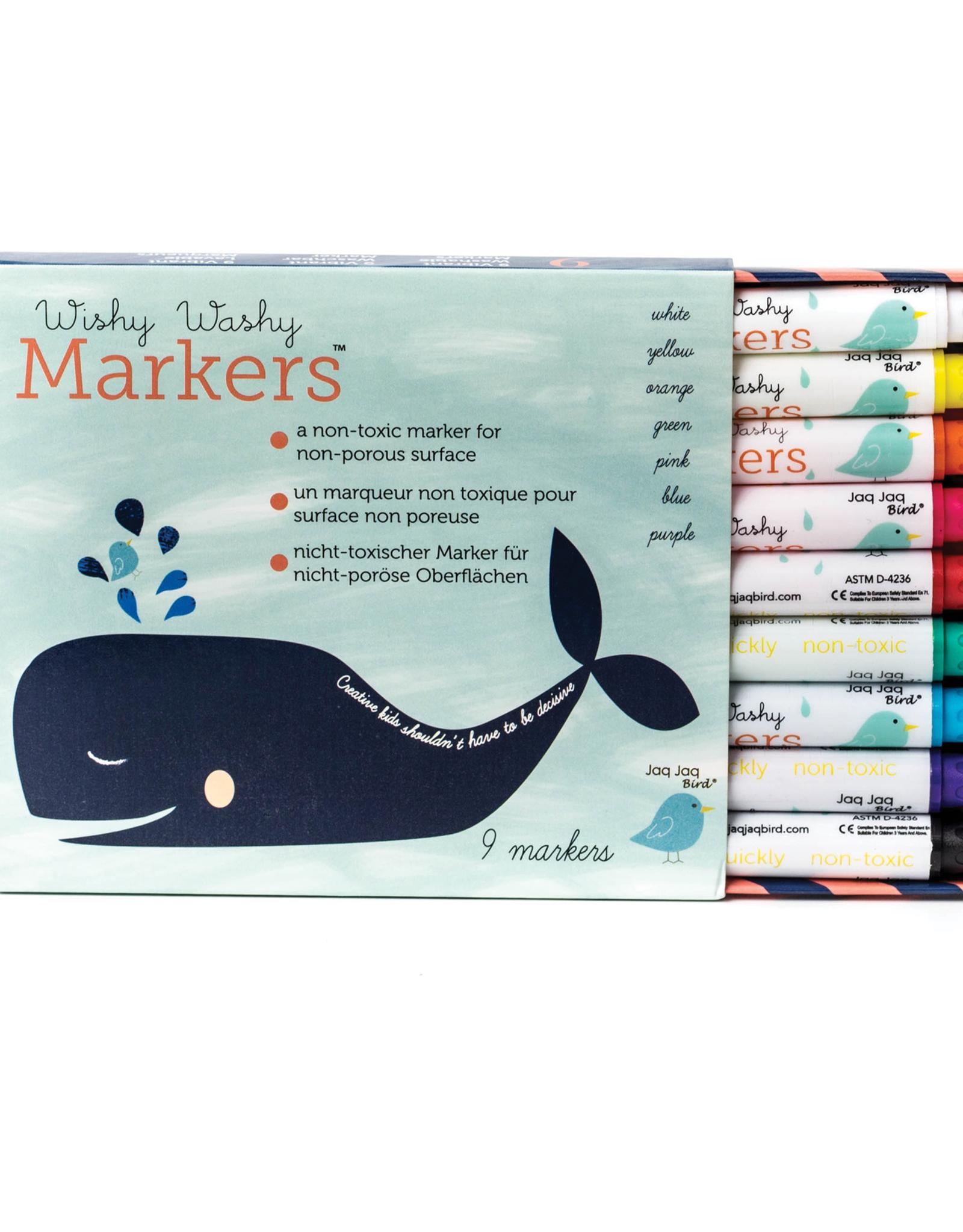 Jaq Jaq Bird Wishy Washy Markers Set of 9