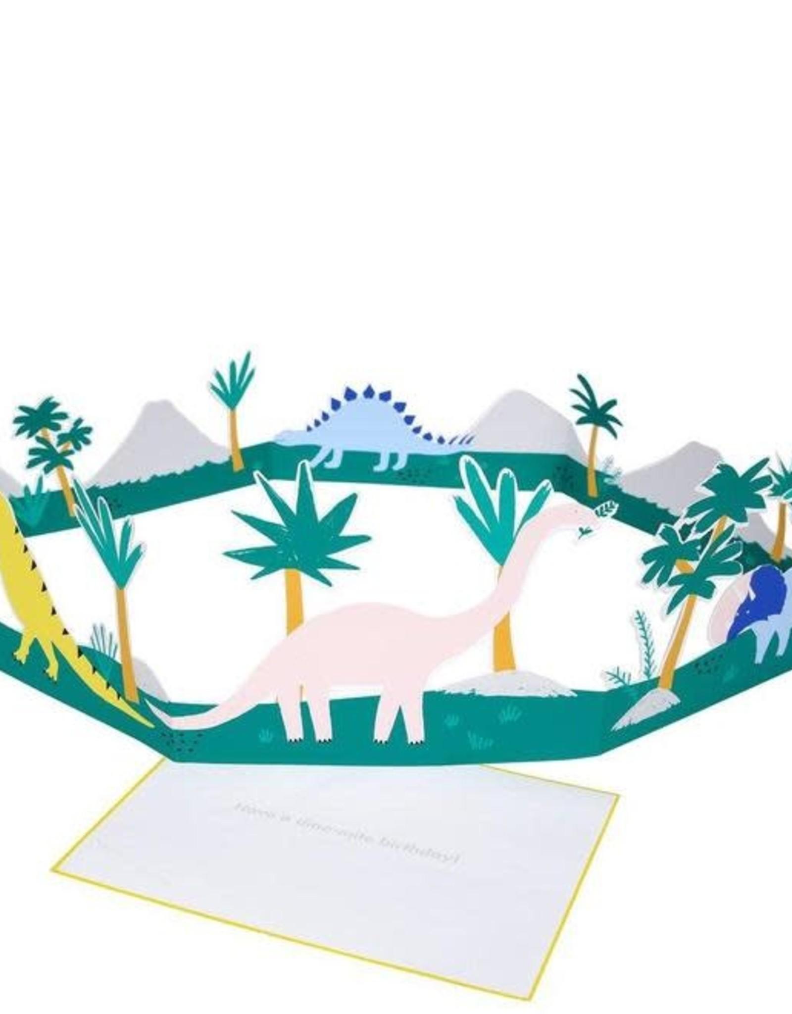 Meri Meri Dinosaur 3D Scene Card