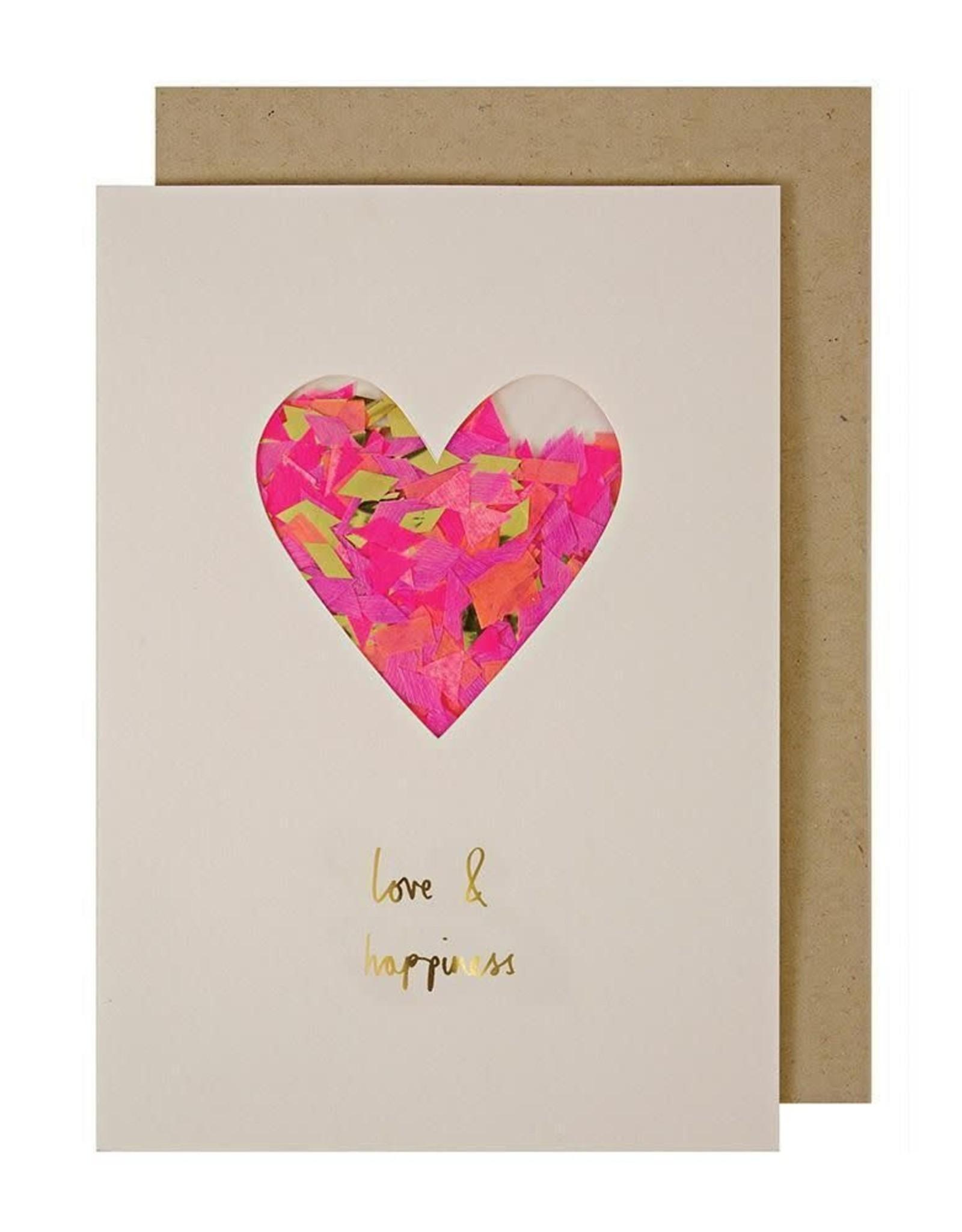 Meri Meri Heart Confetti Shaker Card