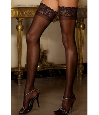 Sexy Tuscany Sheer Thigh High 0005