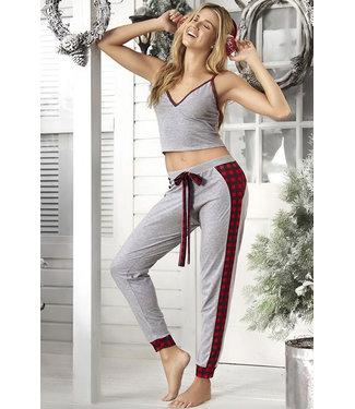 Marit Grey/Plaid Pajamas 7279
