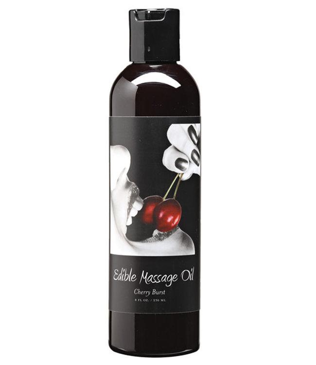 Earthly Body Hemp Edible Massage Oil Cherry 8oz