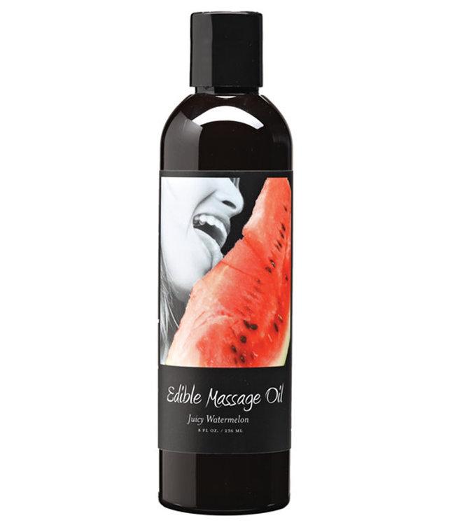 Earthly Body Hemp Edible Massage Oil Watermelon 8oz