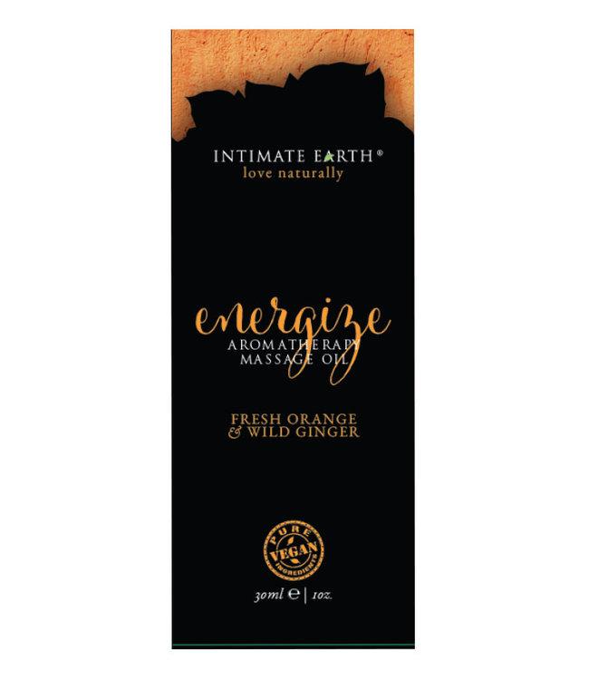 Intimate Earth Energize Massage Oil Foil 1oz