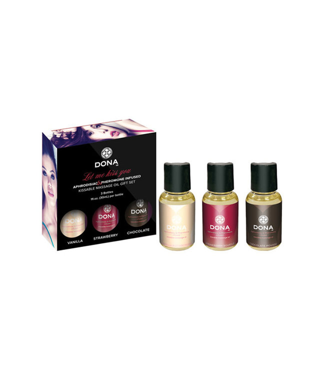 Dona Let Me Kiss You Flavored Massage Oil Gift Set