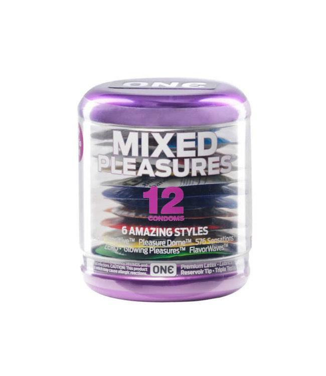 One Next Generation Mixed Pleasures Condoms - Box of 12