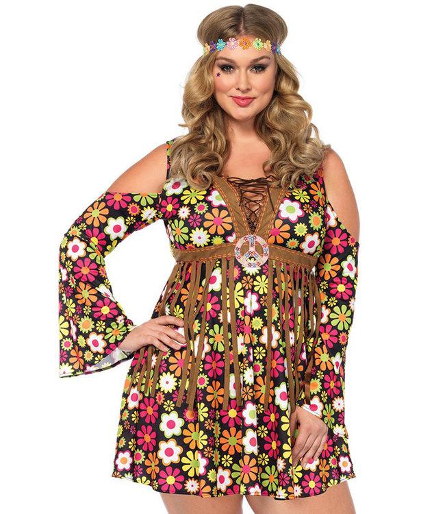 Starflower Hippie Plus Halloween Costume 85610X