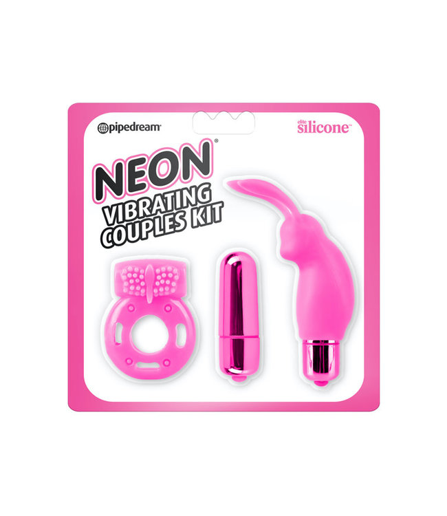Neon Luv Touch Vibrating Couples Kit Pink