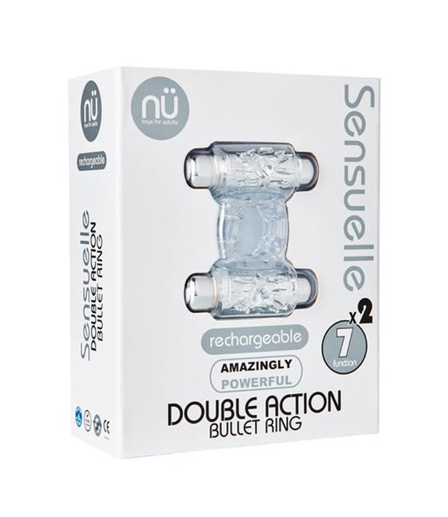 Sensuelle Double Action 2 X 7 Function Cockring Clear