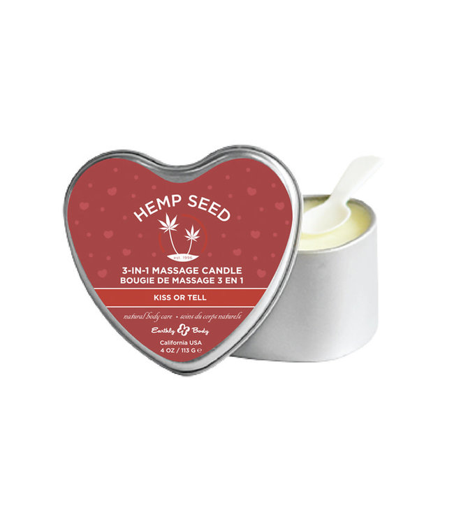 Earthly Body 3-In-1 Kiss or Tell Candle