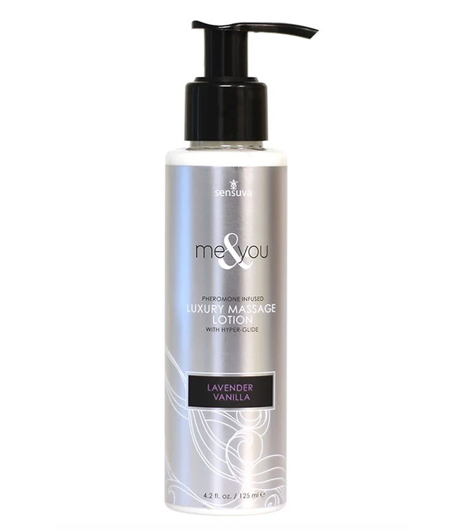 Me & You Pheromone Infused Massage Lotion Lavender Vanilla 4.2oz
