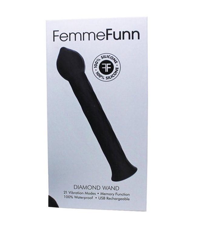 Femme Funn Diamond Wand Black