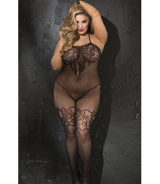 Black Plus Bodystocking X90388