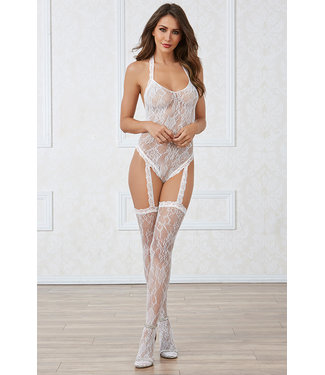 White Lace Bodystocking 0327