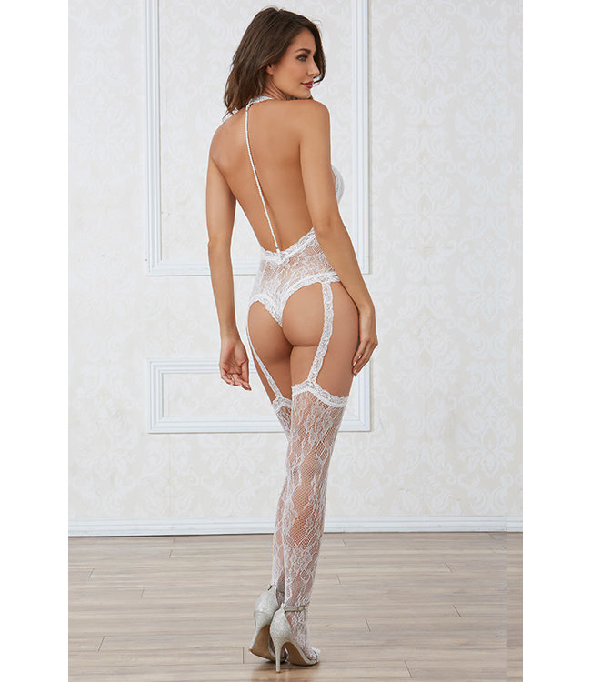 White Lace Bodystocking 0327
