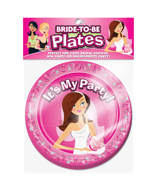 """Bride to Be 8"""" Plates"""