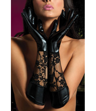 Black Lace Gloves 40113