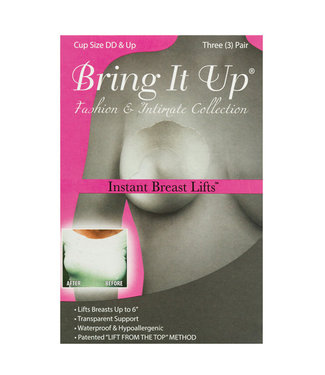 Bring it Up Original Breast Lifts D+ Cup 3pk