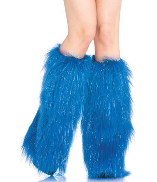Furry Lurex Leg Warmers 3923