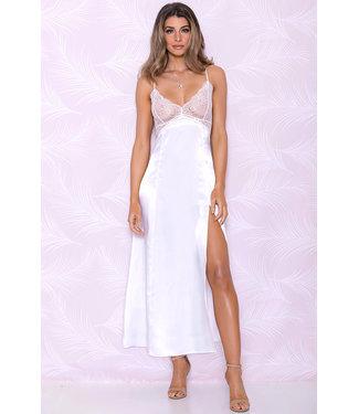 Sabina White Long Gown 7846