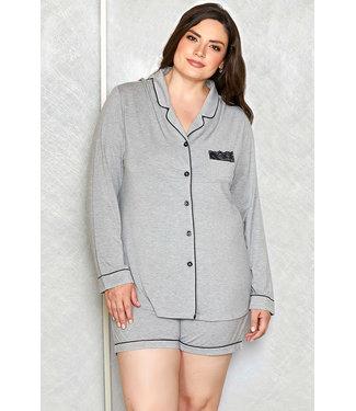 Suzie Plus Grey Pajamas 7883X