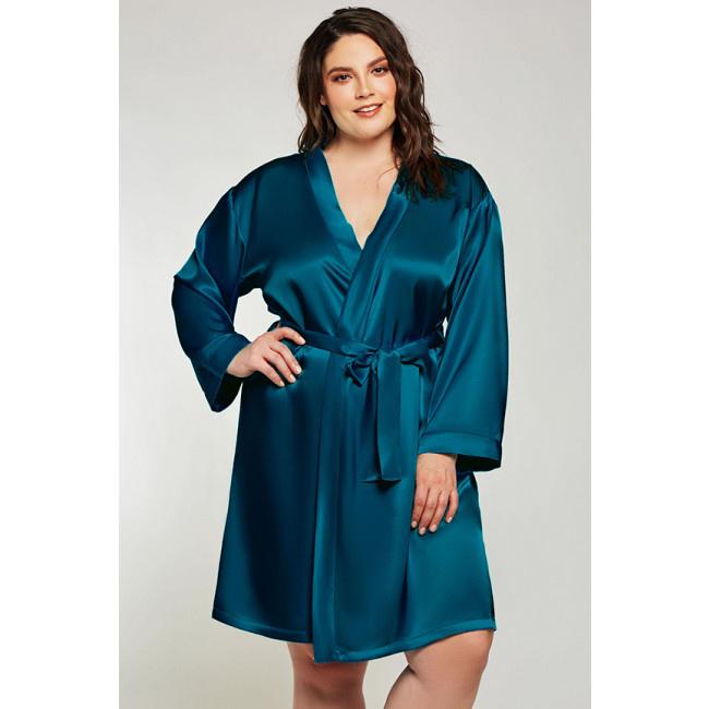 Delaney Plus Peacock Robe