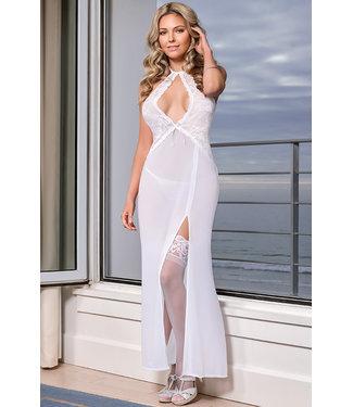 Dorit White Long Gown B562